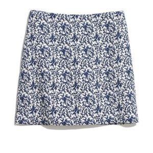 Madewell Blue Bud Printed Mini Skirt
